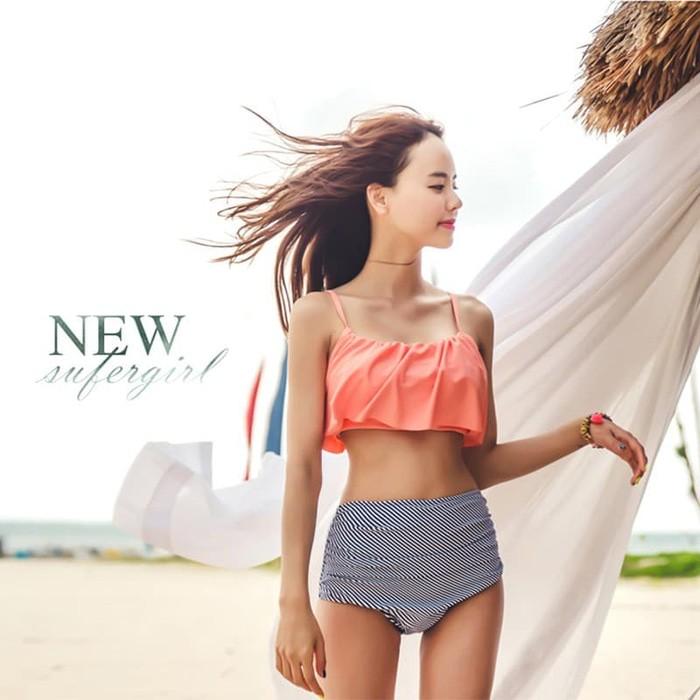 jual Bikini Set Baju Renang   Swimsuit Swimwear     Bra Kemben - Maroon