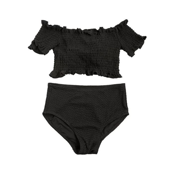 jual Bikini Set Sabrina Swimwear Baju Renang   Busa Swimsuit Murah Bra - Hitam, M