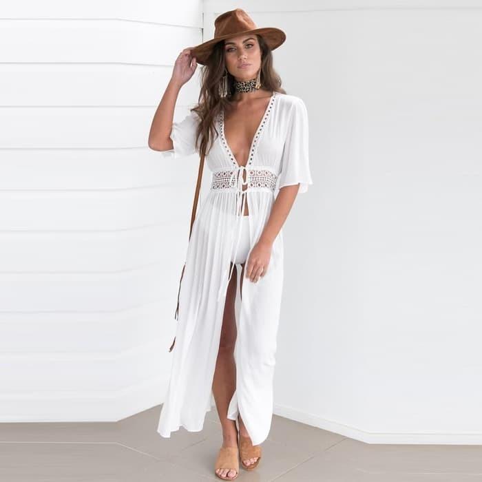 jual Lucy Kimono   Penutup Bikini Outer Cover Up Murah Baju Pantai