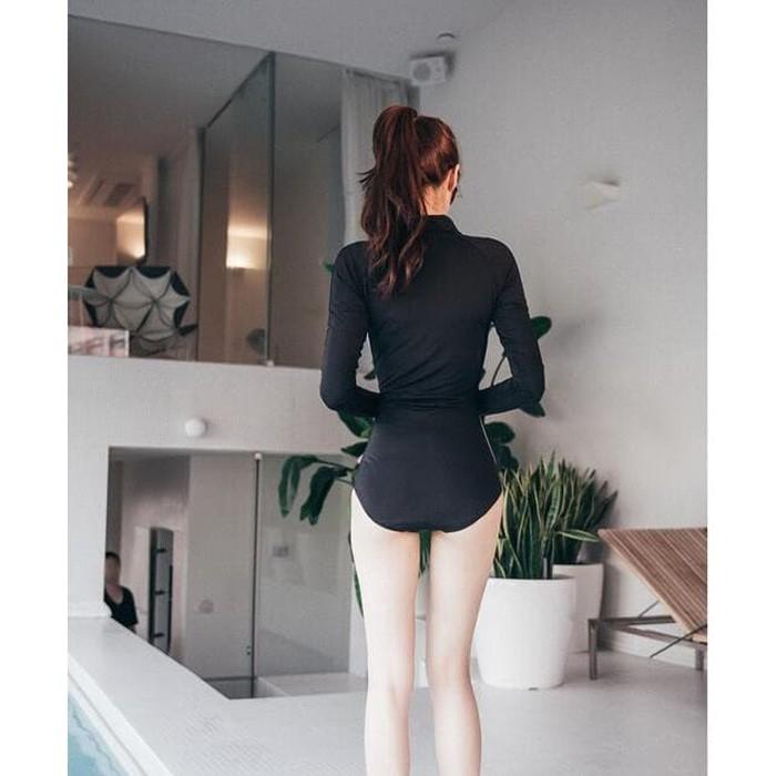 jual Baju Renang Lengan Panjang Monokini Swimsuit Swimwear   Bra Murah