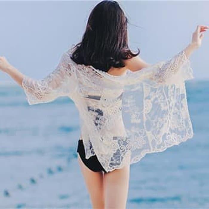 jual SUNFLOWER Outer Beach Top Kimono Bikini Outer Cover Up Baju Renang Bra