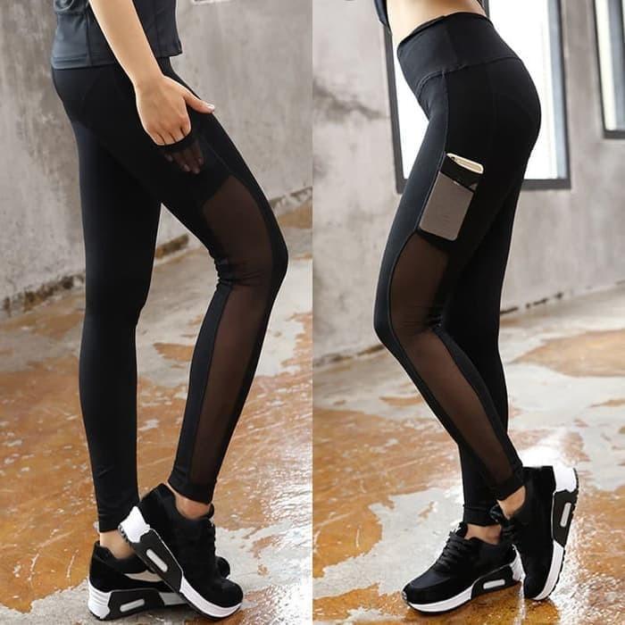 jual Celana Legging Sport Gym Lari Mesh Premium Murah Erato Olahraga Bra