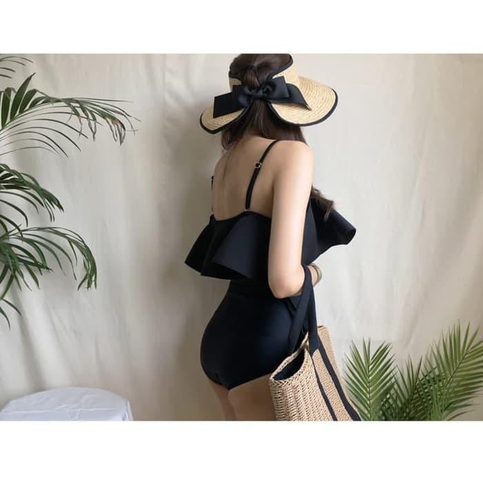 jual Bikini Baju Renang   Swimsuit Bra Monokini Sabrina Lace Swimwear - Hitam, M