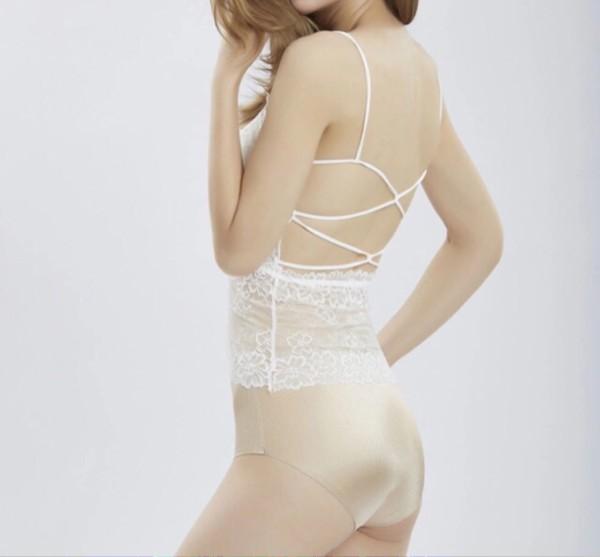 jual Cindy Tanktop Brukat Tanktop Lace Bralette Sexy   Bra Lace - Putih