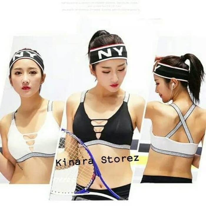 jual Bra Sport Olahraga Gym Fitness Senam Tali Silang 5060
