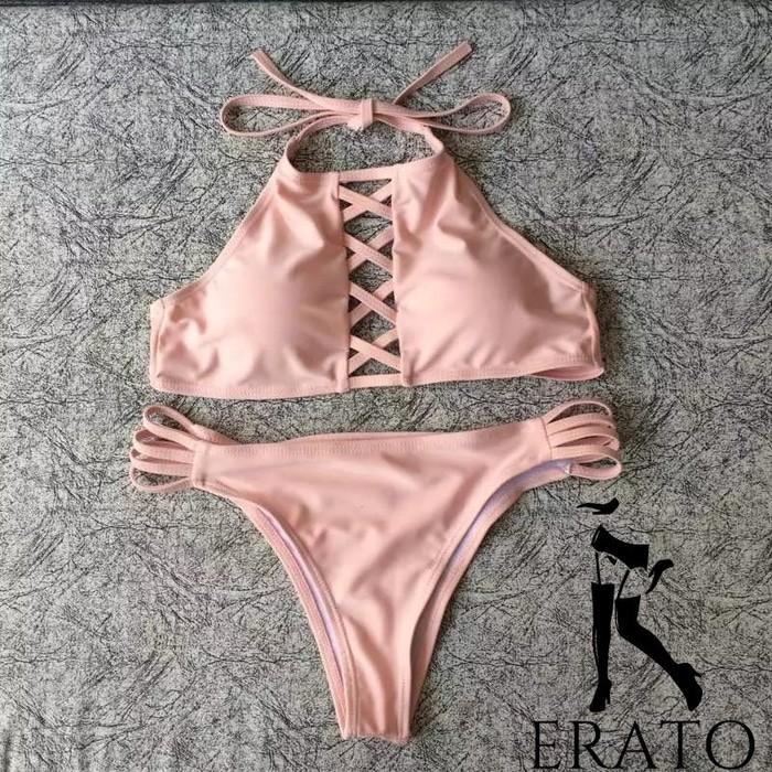 jual ERATO Lingerie Swimsuit Swimwear Baju Renang   Bikini Import Bra - Hitam, S