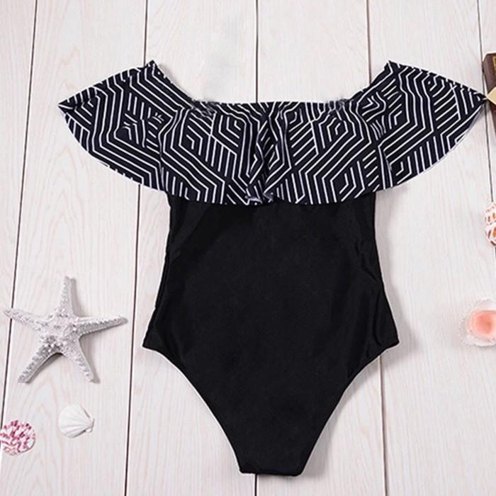jual Bikini Baju Renang Swimsuit Lingerie Bra Camisole Tanktop Celana - Hitam, S