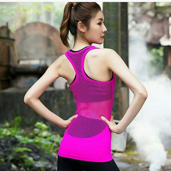 jual Tanktop rompi olahraga   kaos baju sport gym fitness senam 116