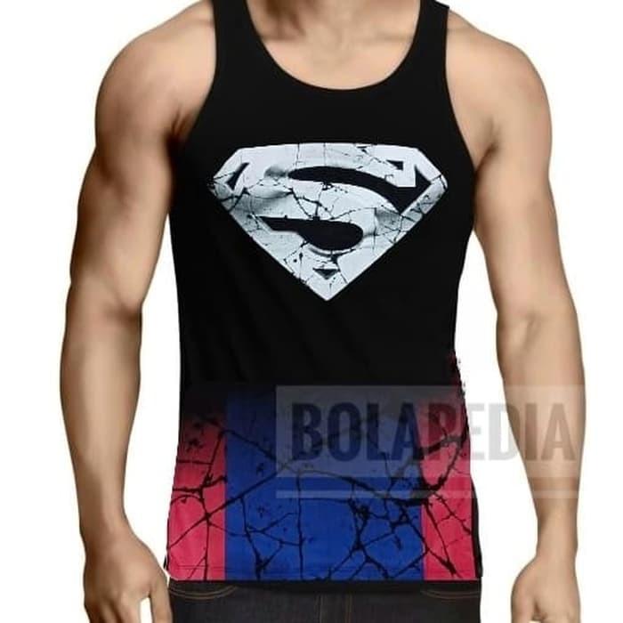 jual Kaos singlet SUPERMAN gym fitness training pria
