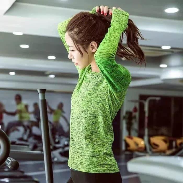 jual kaos t-shirt   sport baju lengan panjang gym fitness olahraga