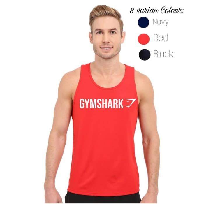 jual Singlet GYM SHARK / Kaos gym fitness training WRN01
