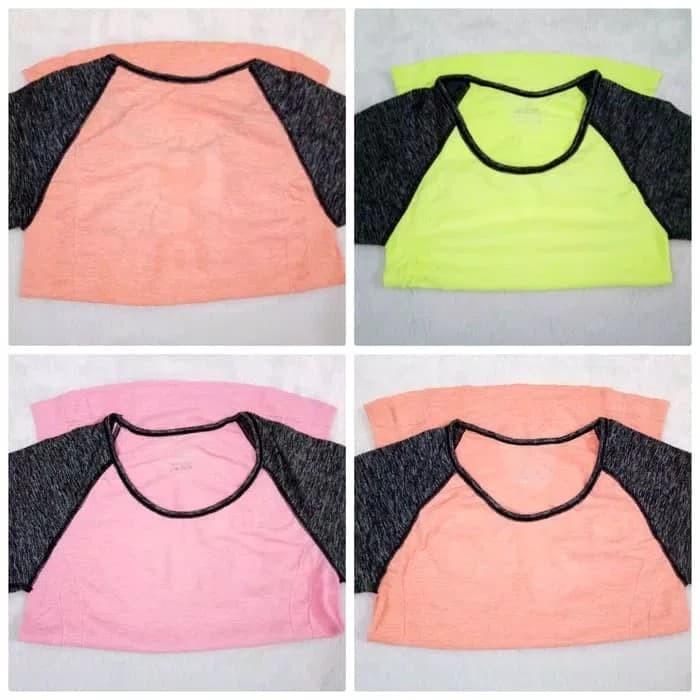 jual Kaos sport Tshirt Baju lengan pendek gym fitness olahraga senam