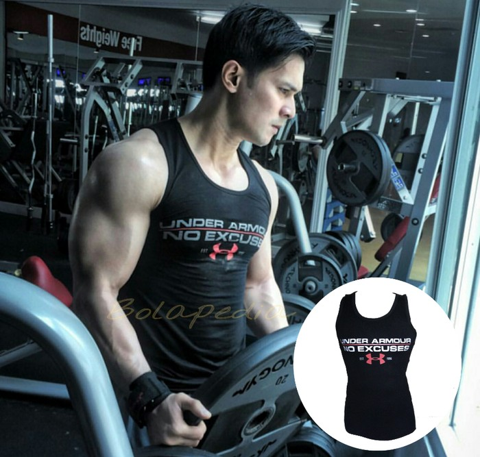 jual Singlet baju kaos fitness gym training fitnes