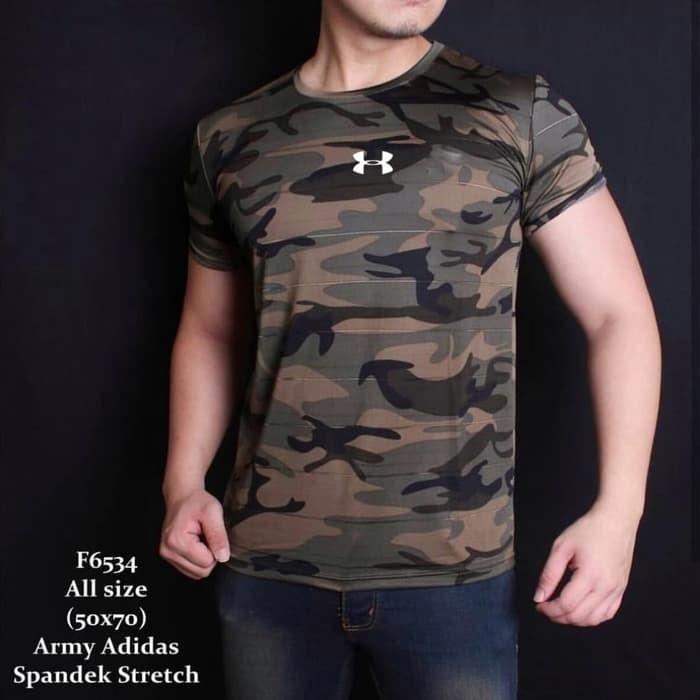 jual Baju Kaos ARMY Loreng tentara tbc gym fitness