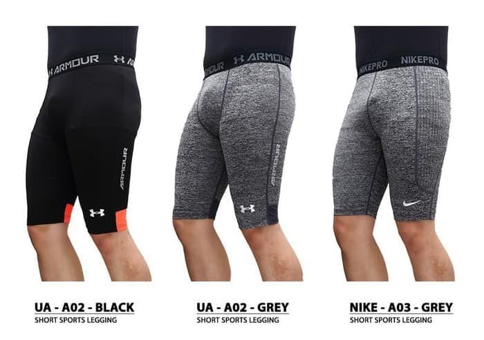 Jual Premium Celana Legging Sport Pendek Cowok Pria Gym Fitness Olahraga Se Aeroxstore