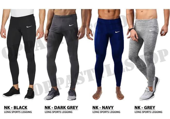 Jual Basic Brand Premium Legging Pria Celana Legging Panjang Training Sport Underarmo Black Aeroxstore