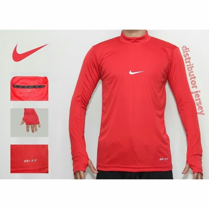 jual MANSET BASELAYER THUMBHOLE NIKE ADIDAS GRADE ORI - Nike, Biru