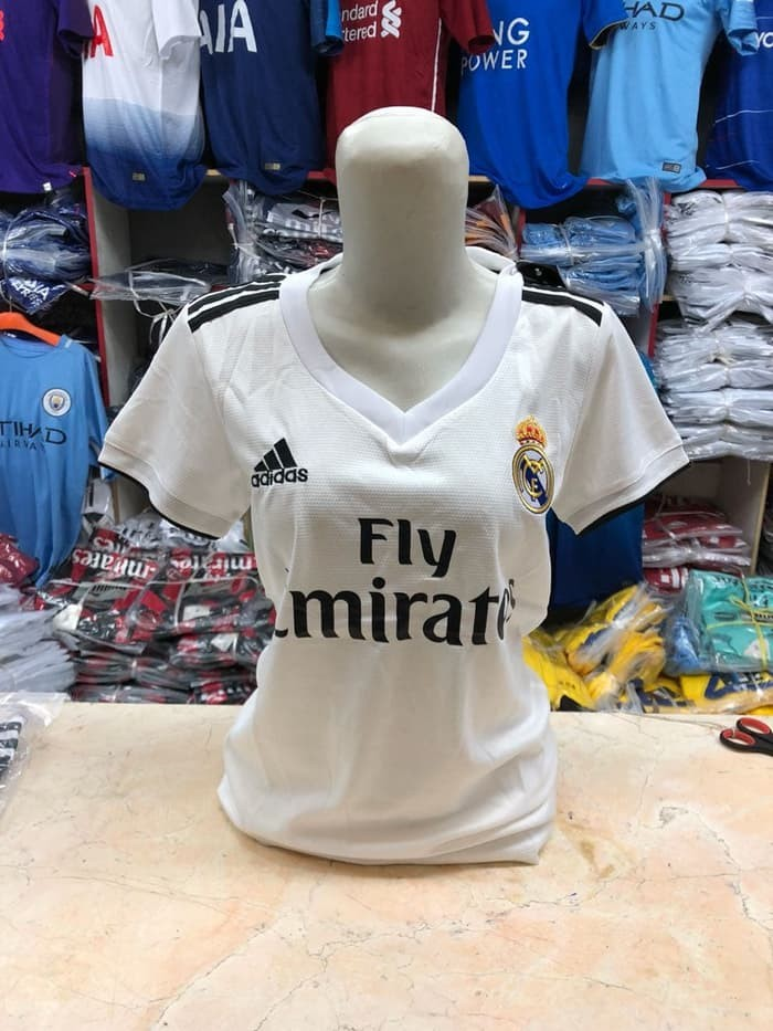 jual Jersey Ladies Madrid home Baru 2018/2019 Grade ori official