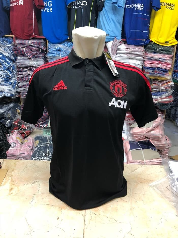 jual Polo Shirt MU Black New 2018/2019 Official