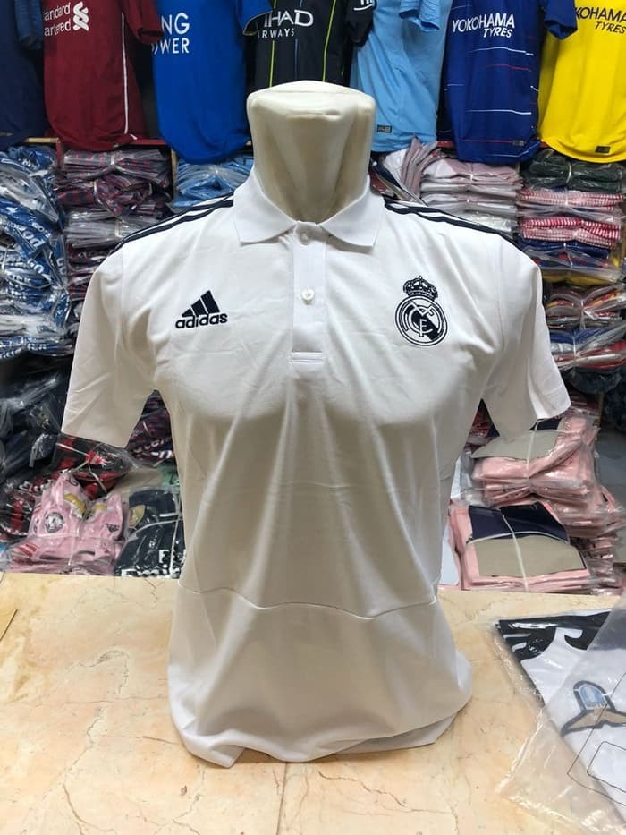 jual Polo Shirt Madrid White New 2018/2019 Official White