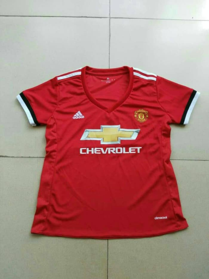 jual Jersey Ladies MU Home 2017/2018 Grade ori official - MU ladies, S