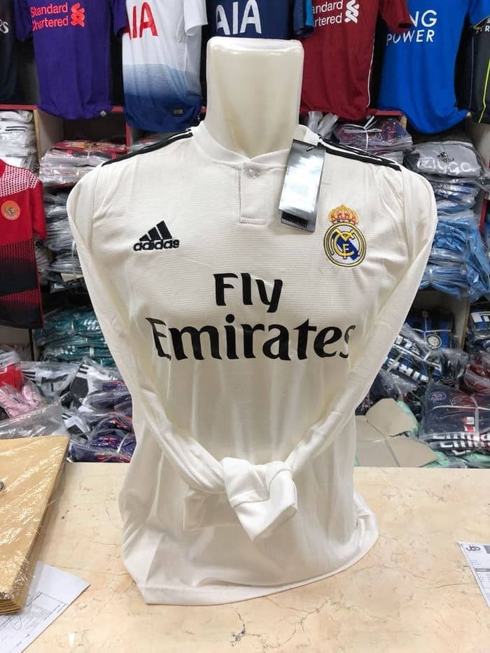 jual Jersey Grade Ori LS Madrid Home Panjang BARU new 2018/2019 Official