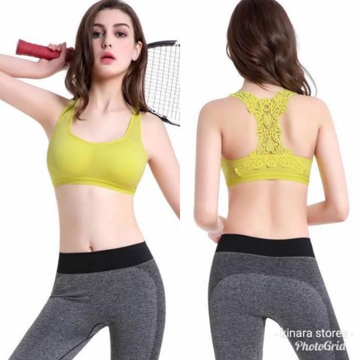jual Bra sport lace bunga olaharaga atasan senam gym fitness