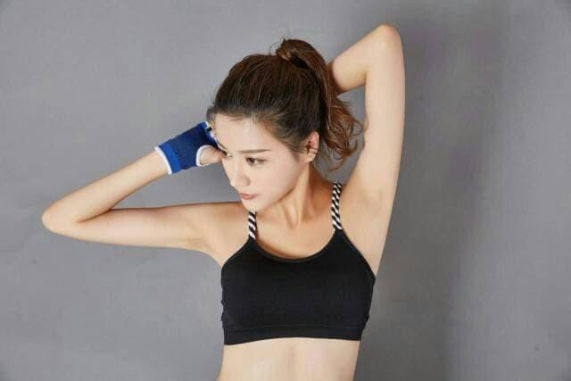 jual Bra sport gym fitness tali silang kepang / atasan olahraga