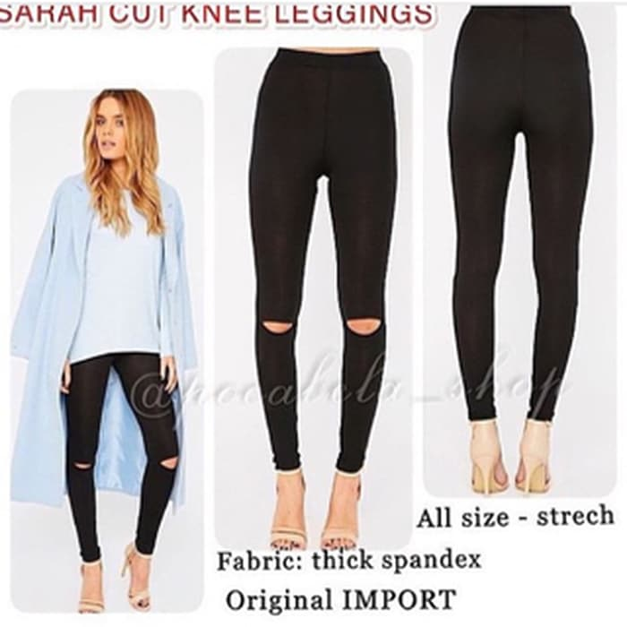 jual Sarah Cut Knee Leggings