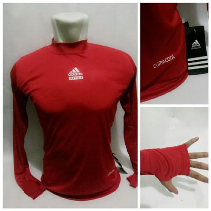 jual Baselayer Manset Bola Grade Ori Adidas Red Climacool