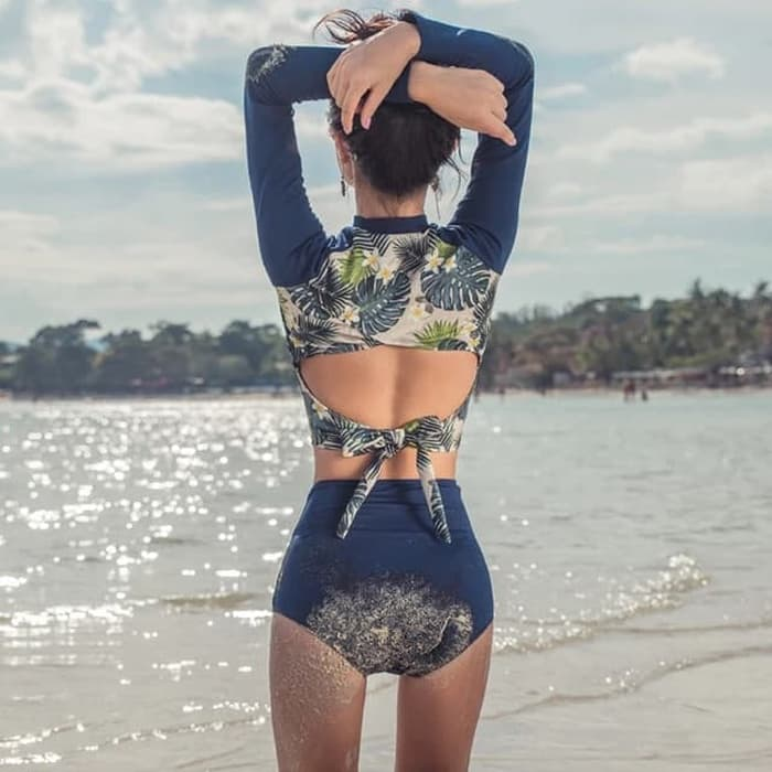 jual Baju Renang   Bikini Baju Renang Lengan Panjang Two Piece Busa