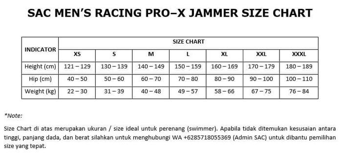 jual Celana Renang Jammer SAC Victorimax Size XS-XXL   Kompetisi