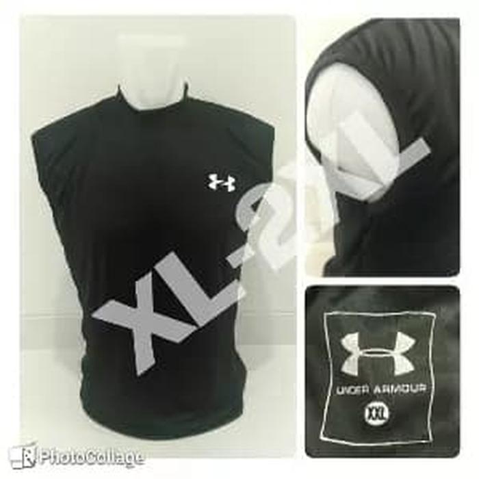 jual XL-3XL !! Singlet / Sleeveless UnderArmour Black