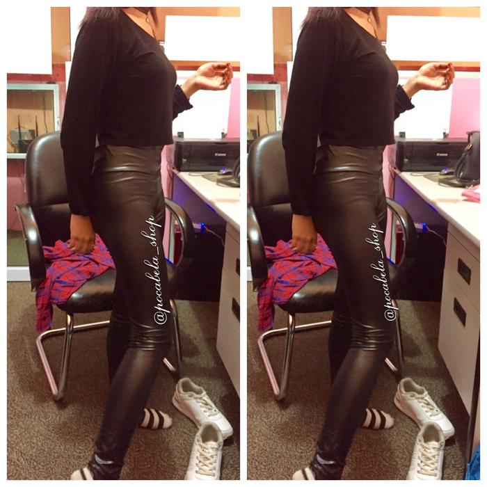 jual faux Latex Legging