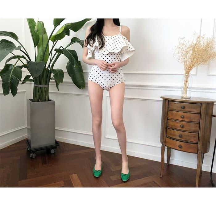 jual Bikini Baju Renang   Swimsuit Bra Monokini Sabrina Swimwear Busa - Putih, M