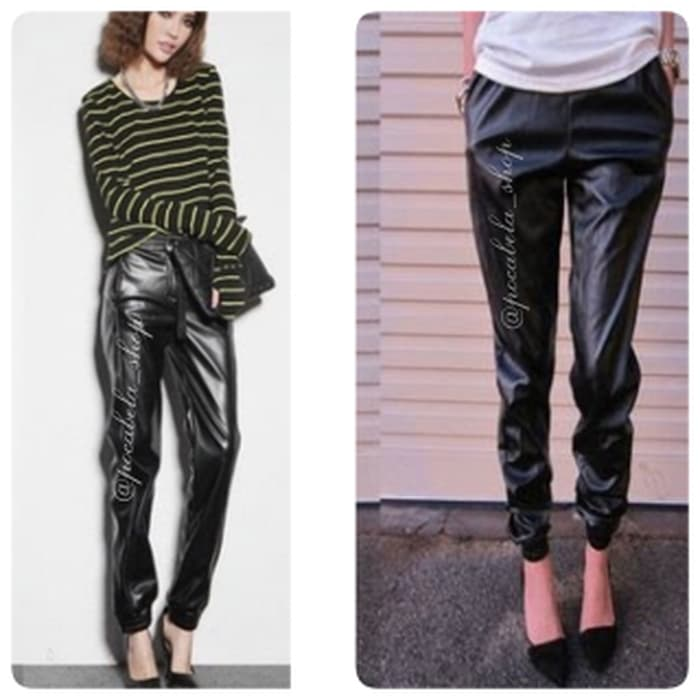 jual LEATHER JOGGERS