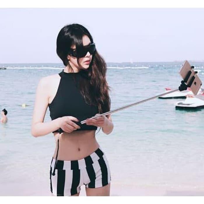 jual Bikini     Swimsuit Baju Renang   Lingerie Bustier Bra - Hitam, M
