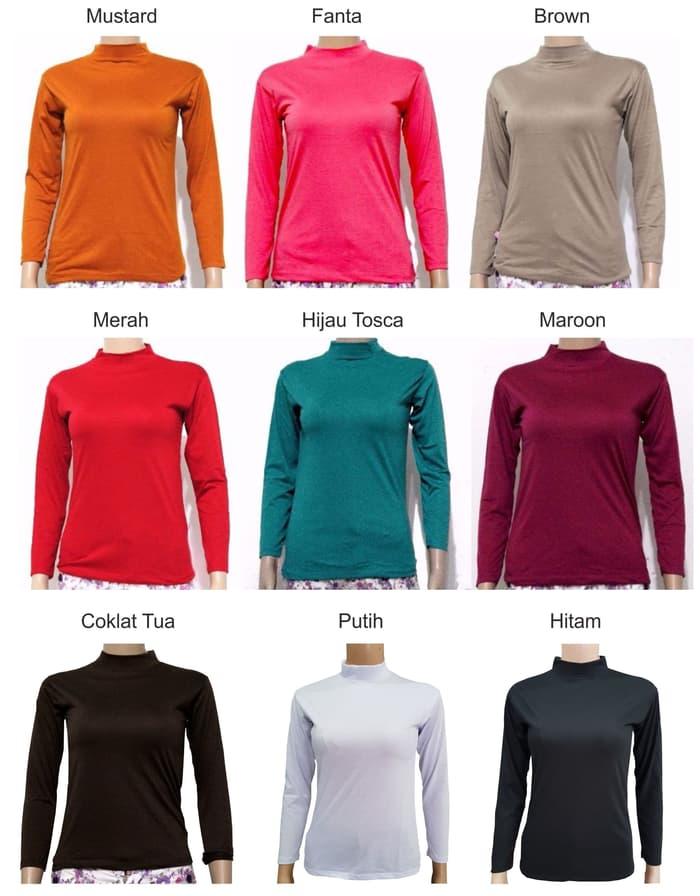 jual Baju Manset Wanita Lengan Panjang A0029 - Merah, L