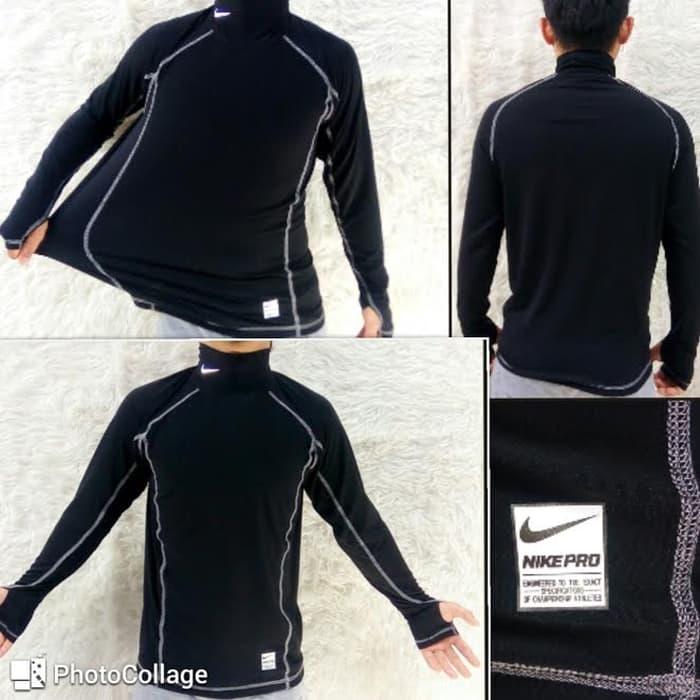 jual Baselayer Manset Combat Stretch Nike Pro white