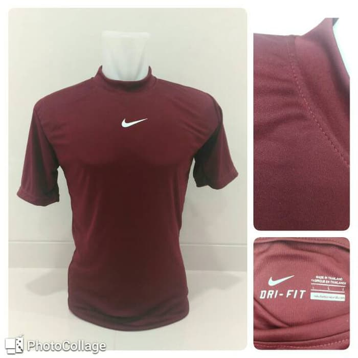 jual Baselayer / Manset Nike Short Sleeve Maroon