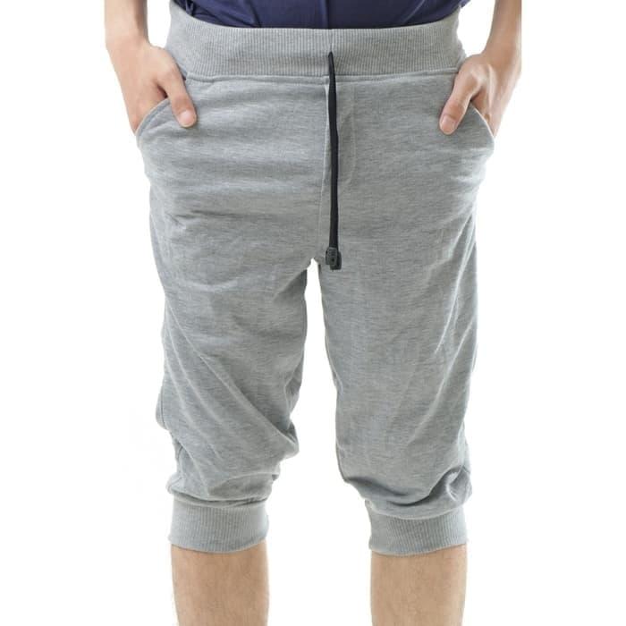 jual Celana Jogger Pants 3/4 Polos Murah Babyterry Gym Fitness