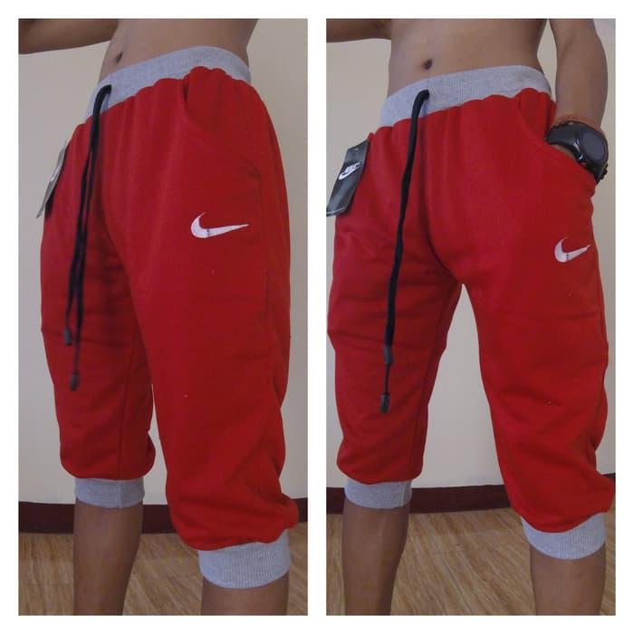 jual Celana Jogger Nike 3/4 Merah