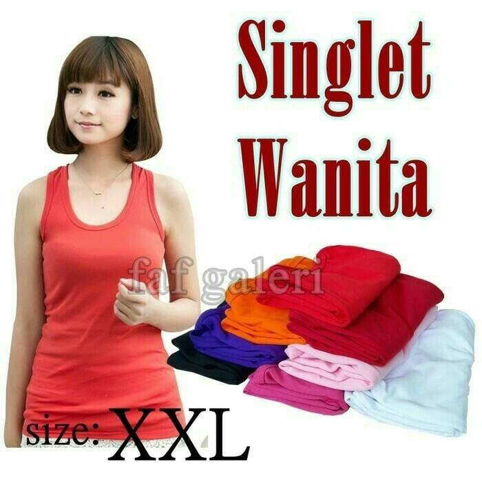 jual Singlet Pakaian Dalam Wanita Size XXL