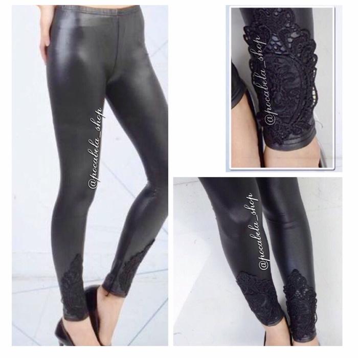 jual Kathy Lace Latex Leggings