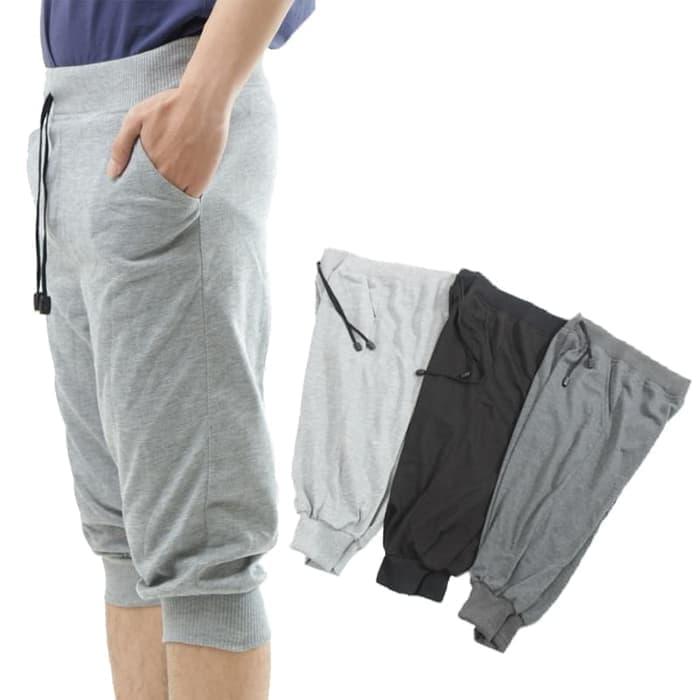 jual Jogger Pants 3/4 Polos Lari gym fitness Murah Keren Babyterry