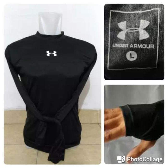 jual Baselayer / Manset UnderArmour Black