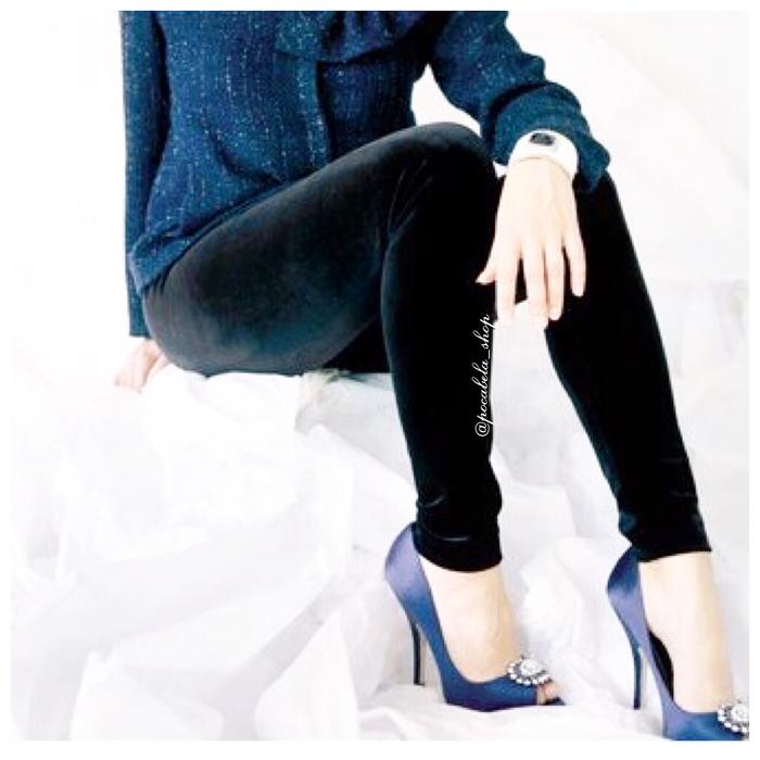 jual Velvet Leggings Import