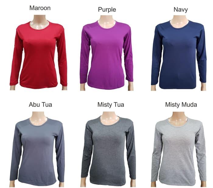 jual Atasan Murah Long Sleeves Casual Shirt / Manset Polos A0203