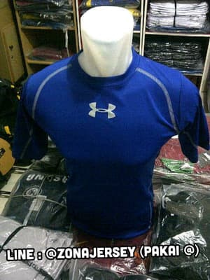 jual Baju Training / Gym / Running UnderArmour Blue