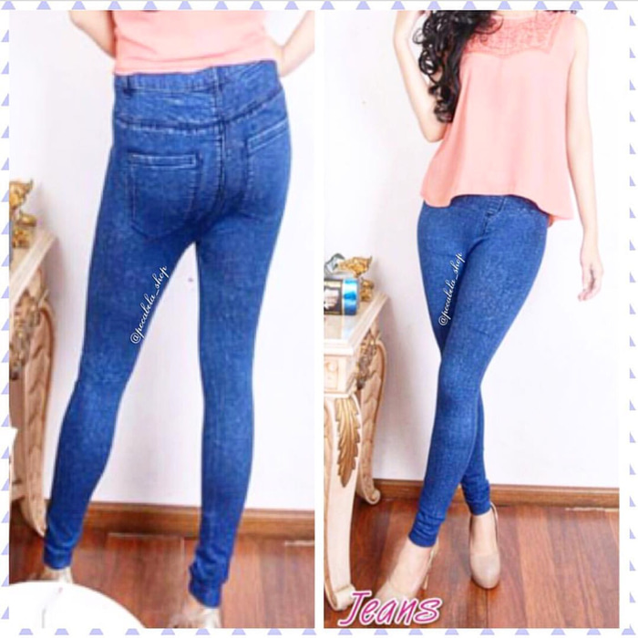 jual Best seller || Snowflakes Jeans Leggings